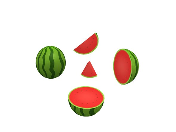Water Melon - 3DOcean Item for Sale