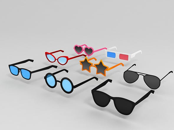 Glasses Pack - 3DOcean Item for Sale
