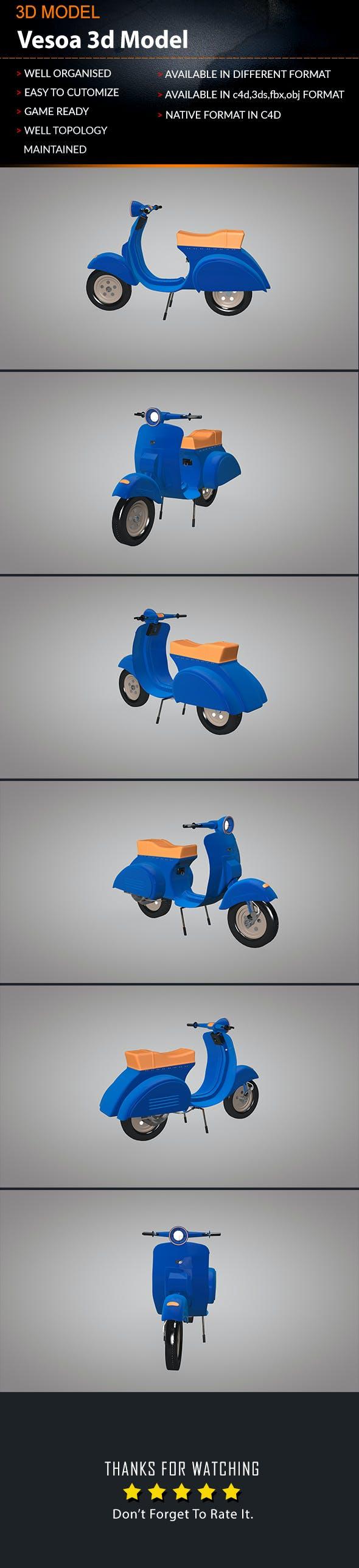 Vespa 3D Model - 3DOcean Item for Sale