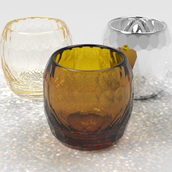 Gem Faceted Shot Glass - 3DOcean Item for Sale