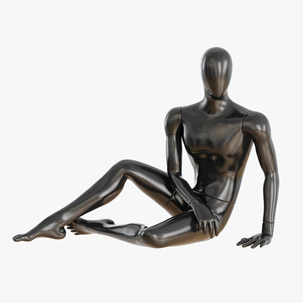 Faceless sitting male mannequin 24 - 3DOcean Item for Sale