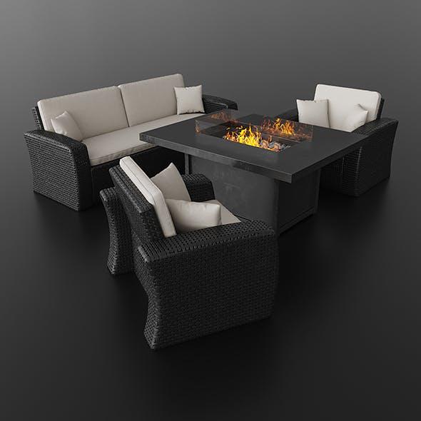 Wicker Furniture - 3DOcean Item for Sale