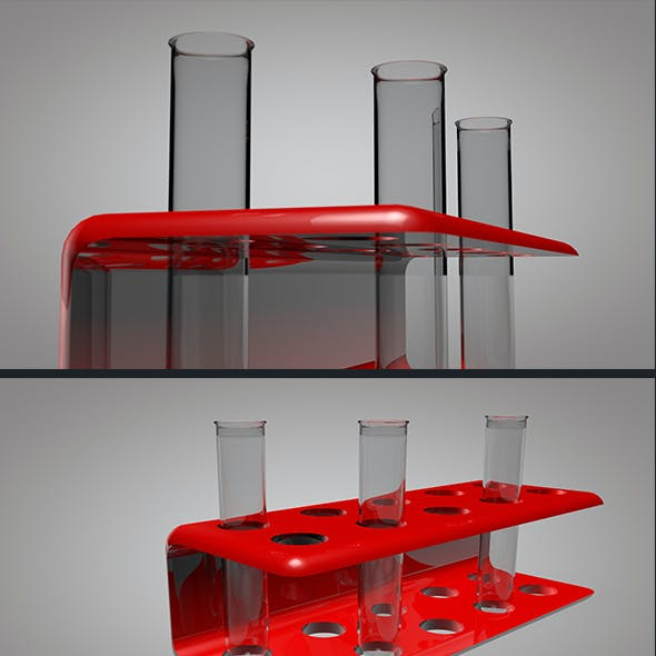 Test Tube With Stand 3D Model