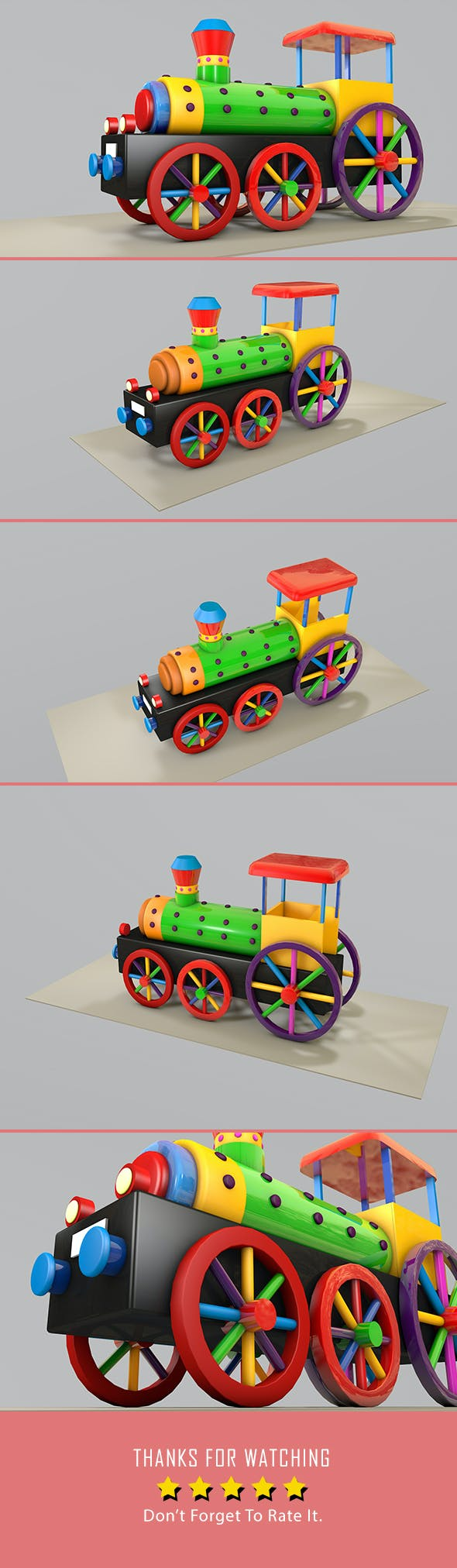 Toy Train 3d Model - 3DOcean Item for Sale