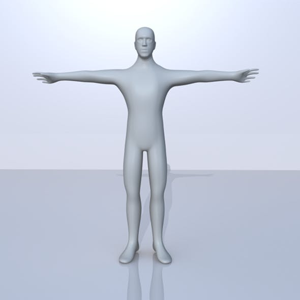 Low Poly 3D Male Character Model