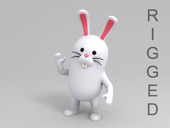 Rigged Rabbit - 3DOcean Item for Sale