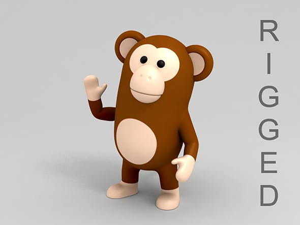 Rigged Monkey - 3DOcean Item for Sale