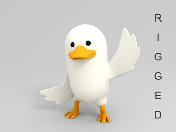 Rigged Duck - 3DOcean Item for Sale