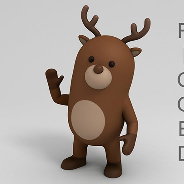 Rigged Cartoon Reindeer