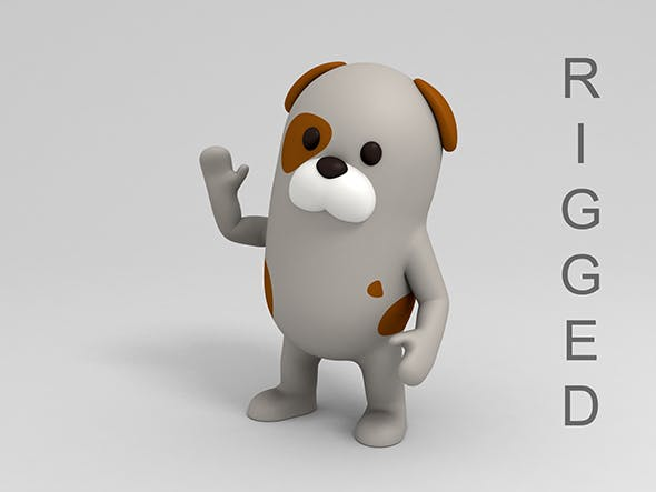 Rigged Cartoon Dog - 3DOcean Item for Sale