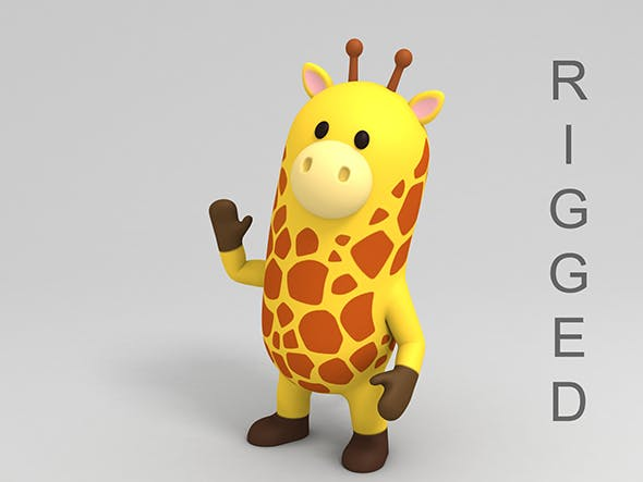 Rigged Cartoon Giraffe - 3DOcean Item for Sale