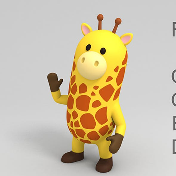 Rigged Cartoon Giraffe