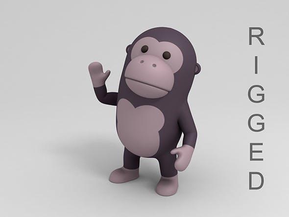 Rigged Cartoon Gorilla - 3DOcean Item for Sale