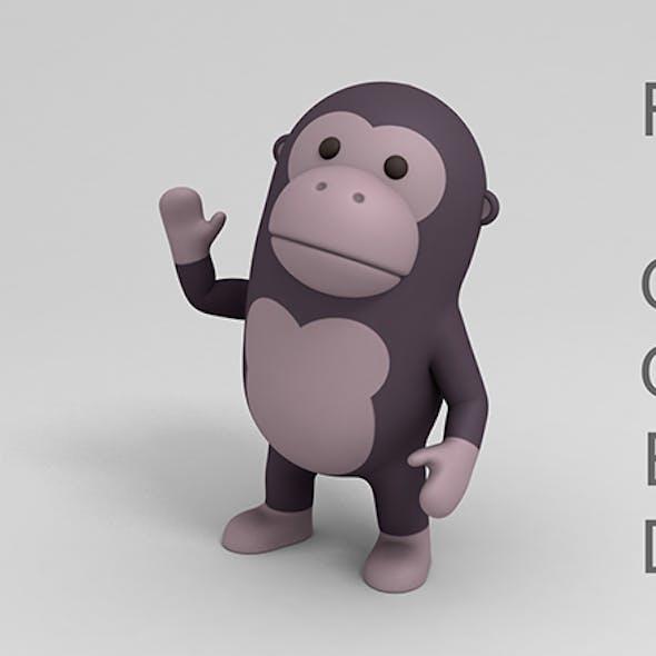 Rigged Cartoon Gorilla