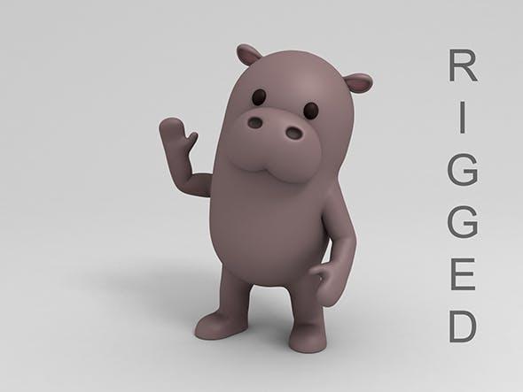 Rigged Cartoon Hippopotamus - 3DOcean Item for Sale