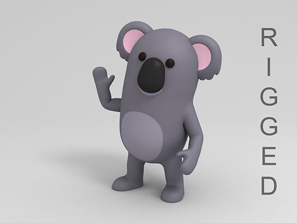 Rigged Cartoon Koala - 3DOcean Item for Sale