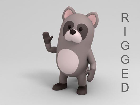 Rigged Cartoon Raccoon - 3DOcean Item for Sale