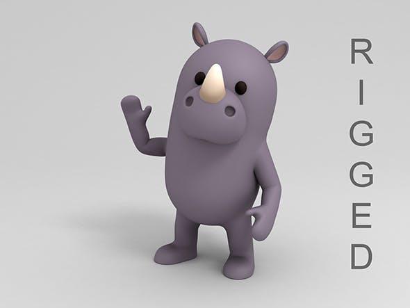 Rigged Cartoon Rhinoceros - 3DOcean Item for Sale