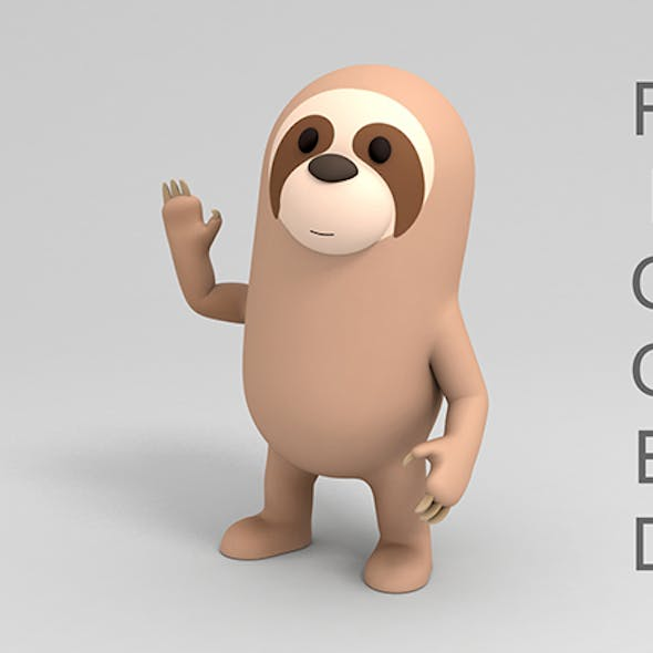 Rigged Cartoon Sloth