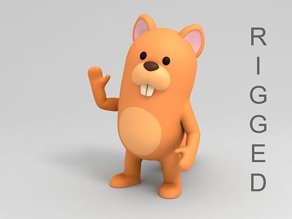 Rigged Cartoon Squirrel - 3DOcean Item for Sale