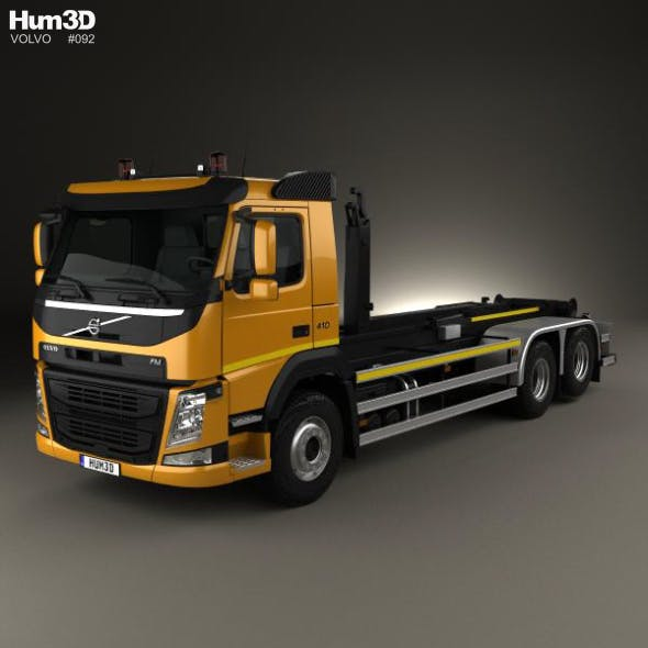 Volvo FM 410 Skip Loader Truck 2013 - 3DOcean Item for Sale