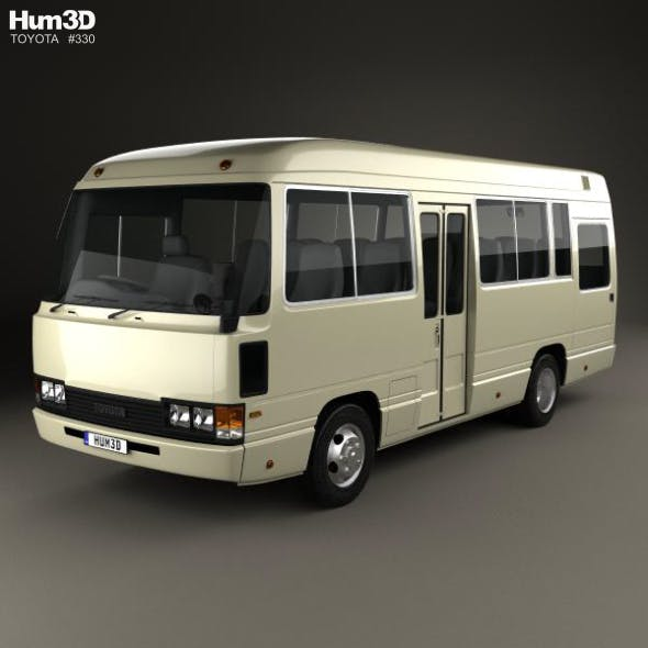 Toyota Coaster Bus 1983 - 3DOcean Item for Sale