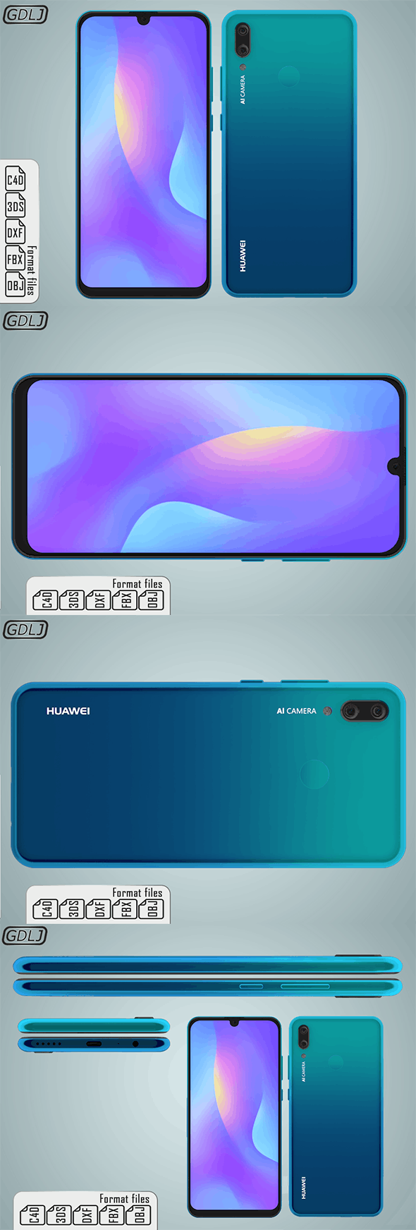 Huawei P Smart 2019 - 3DOcean Item for Sale
