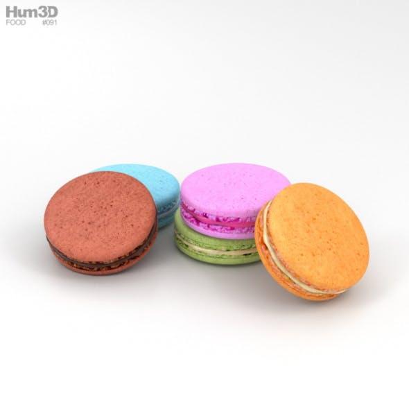 French Macarons - 3DOcean Item for Sale