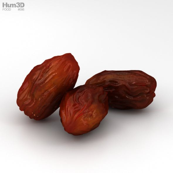 Dried Dates - 3DOcean Item for Sale