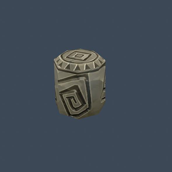 Handpaint Cartoon Stone Memorial Totem 04 Symbol - 3DOcean Item for Sale