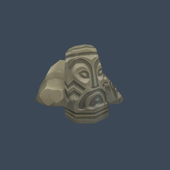 Handpaint Cartoon Stone Memorial Totem 06 Symbol - 3DOcean Item for Sale