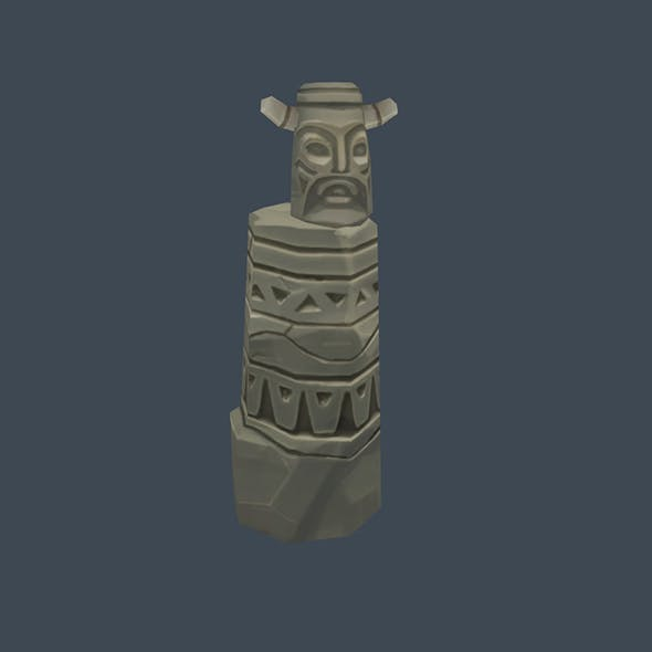Handpaint Cartoon Stone Memorial Totem 08 Symbol
