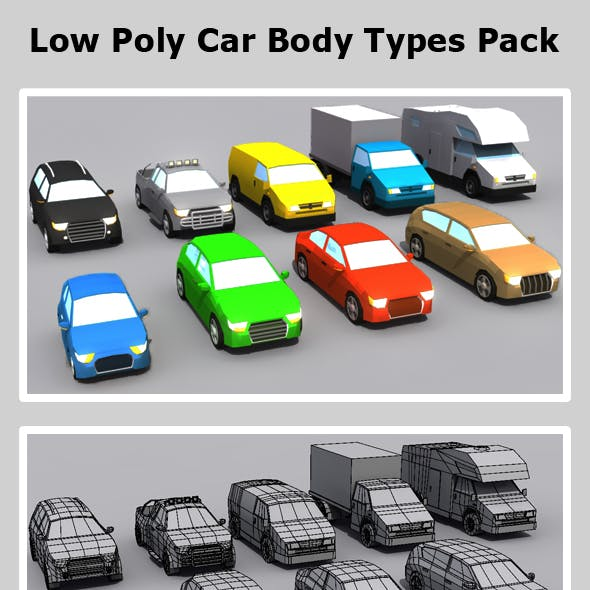 Low Poly Car Body Types Pack