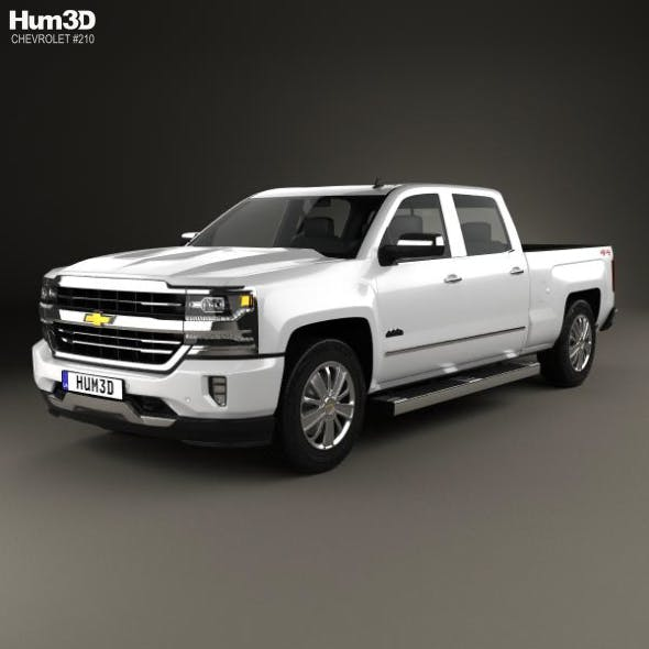 Chevrolet Silverado 1500 Crew Cab Standard Box High Country 2017 - 3DOcean Item for Sale