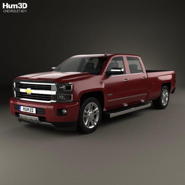 Chevrolet Silverado 2500HD Crew Cab Long Box High Country 2017 - 3DOcean Item for Sale
