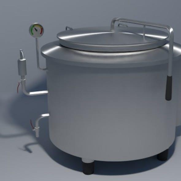 Industrial boiling pan