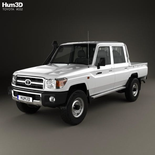 Toyota Land Cruiser J79 Double Cab Pickup 2012 - 3DOcean Item for Sale