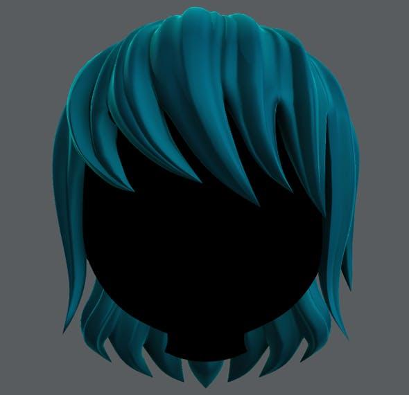 Hair 09 - 3DOcean Item for Sale
