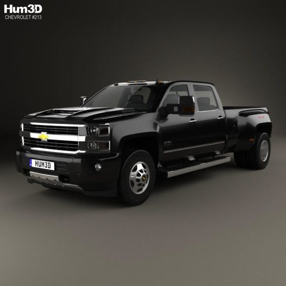 Chevrolet Silverado 3500HD Crew Cab Long Box High Country Dually Diesel 2017 - 3DOcean Item for Sale