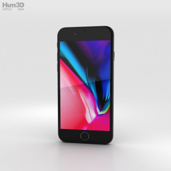 Apple iPhone 8 Space Gray - 3DOcean Item for Sale