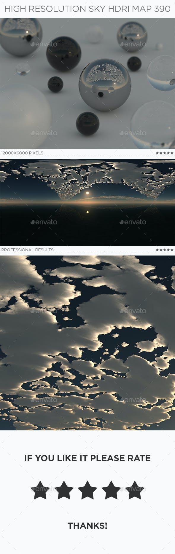 High Resolution Sky HDRi Map 390 - 3DOcean Item for Sale