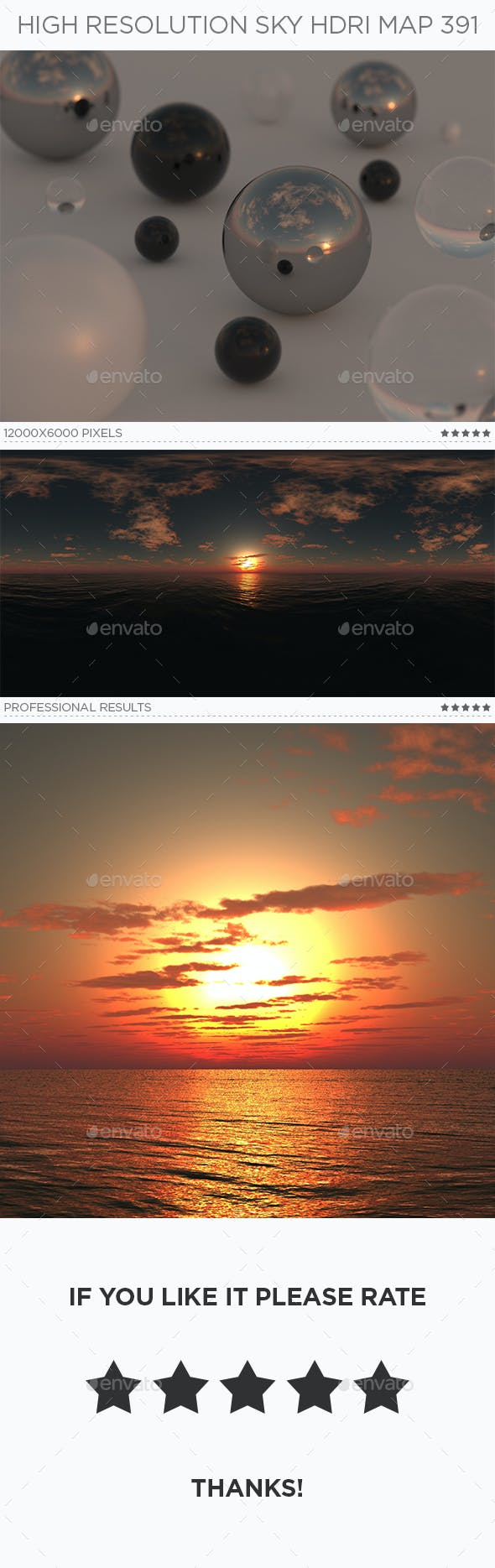 High Resolution Sky HDRi Map 391 - 3DOcean Item for Sale