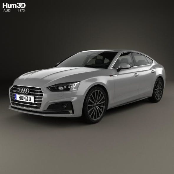Audi A5 Sportback 2017 - 3DOcean Item for Sale