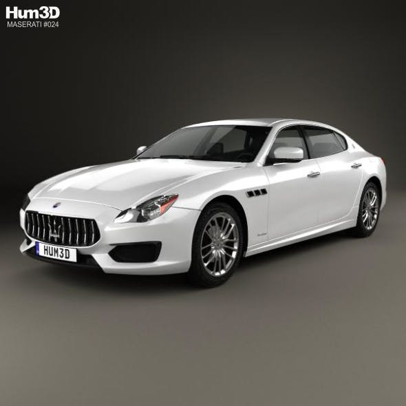 Maserati Quattroporte GTS Gran Sport 2017 - 3DOcean Item for Sale