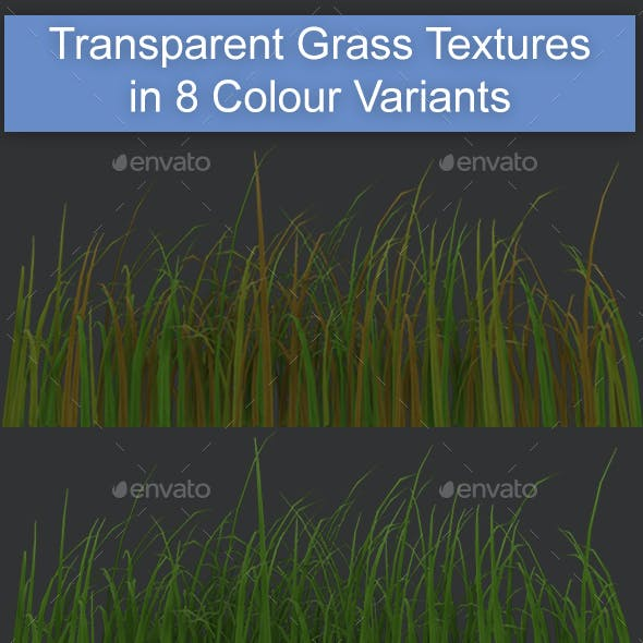 Transparent Grass Textures in 8 Colour Variants