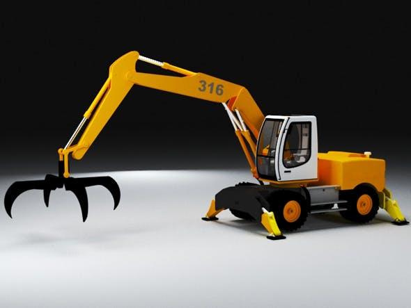 Crane caterpillar excavadora retroescavadora - 3DOcean Item for Sale