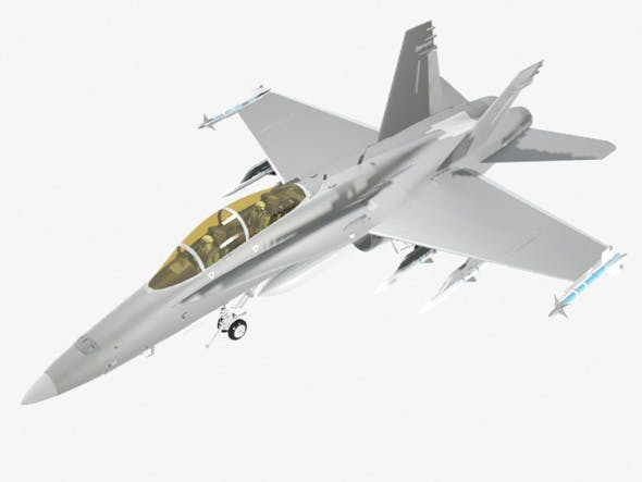 FA 18D Hornet Military Fighter Jet Airplane - 3DOcean Item for Sale