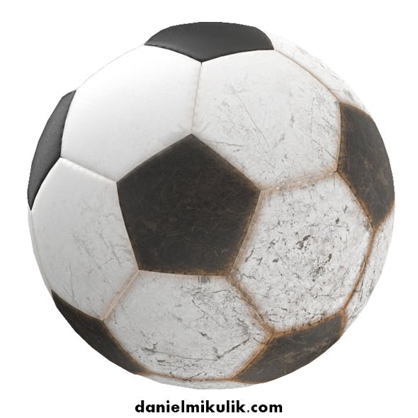 New and Old Soccer Ball PBR - 3DOcean Item for Sale
