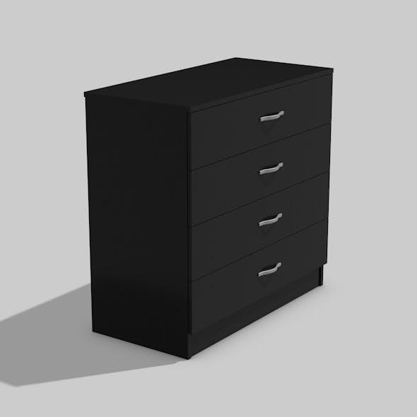 Medium Black Cupboard - 3DOcean Item for Sale