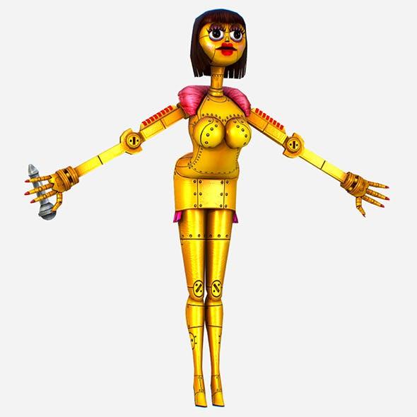 Golden Musical Robot Drone - Babe G1